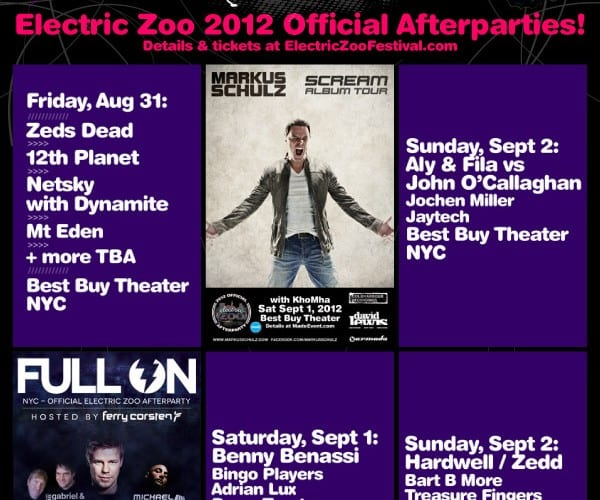 Electric Zoo announces its After Parties