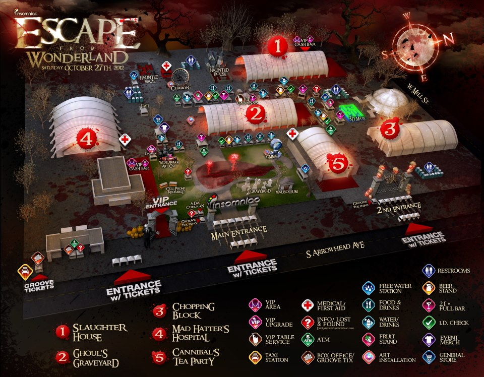 Escape From Wonderland Map