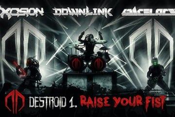 Excision downlink space laces raise your fist