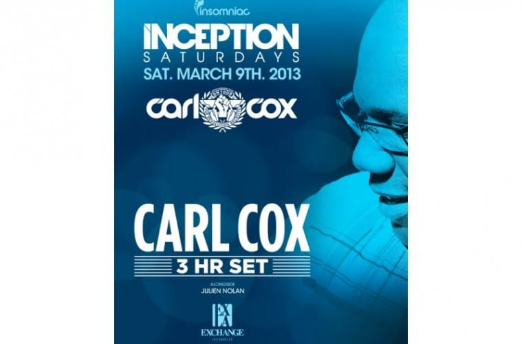 Carl Cox Inception Exchange LA