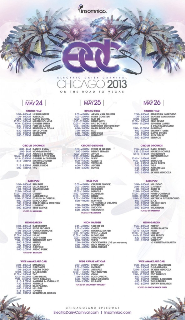 edc cicago-2013 set times-youredm