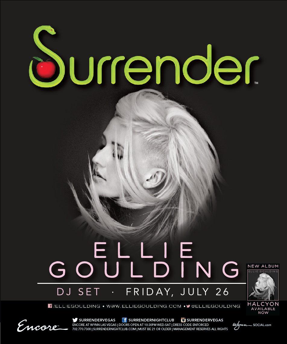 Ellie Goulding's DJ Debut at Surrender Las Vegas
