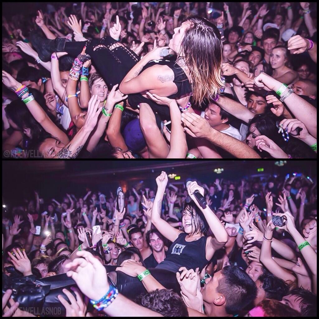 crowd surfing copy