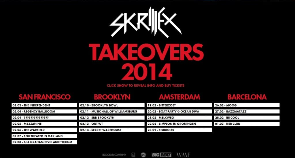 Skrillex Takeover Tour Dates & Locations - Your EDM