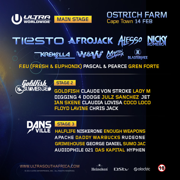 ULTRA Cape Town Lineup