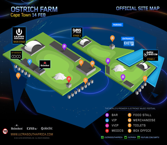 ULTRA Cape Town Map