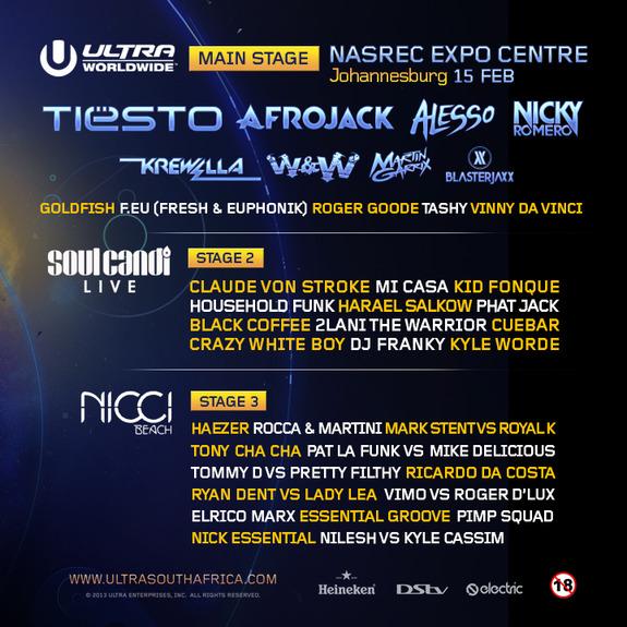 ULTRA Johannesburg Lineup