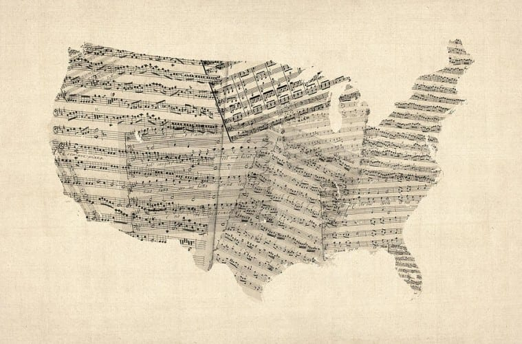 A Musical Map Of The Us