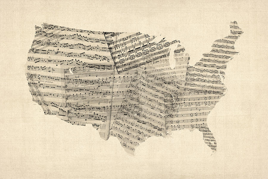 What is your state 39 s favorite band a musical map of the us for Old house music artists