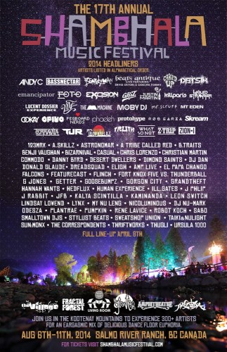 Shambhala Music Festival Line Up