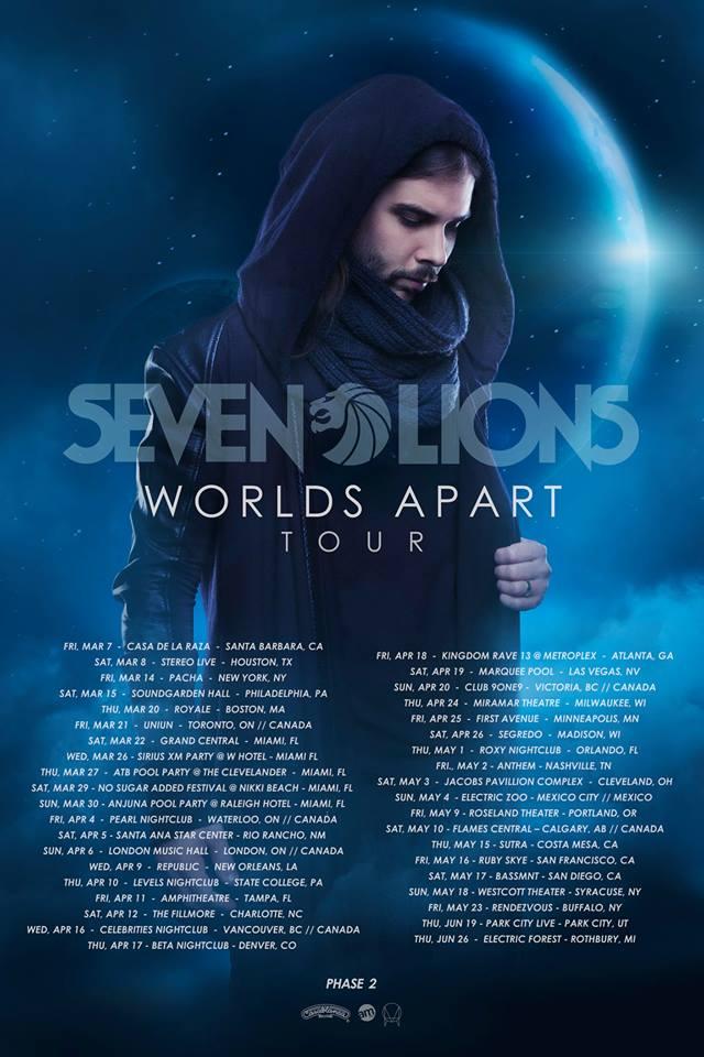 Seven Lions Worlds Apart Tour