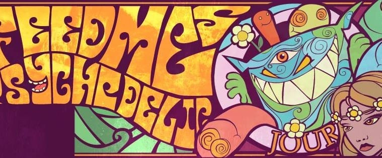 feed me north american tour psychedelic journey poster