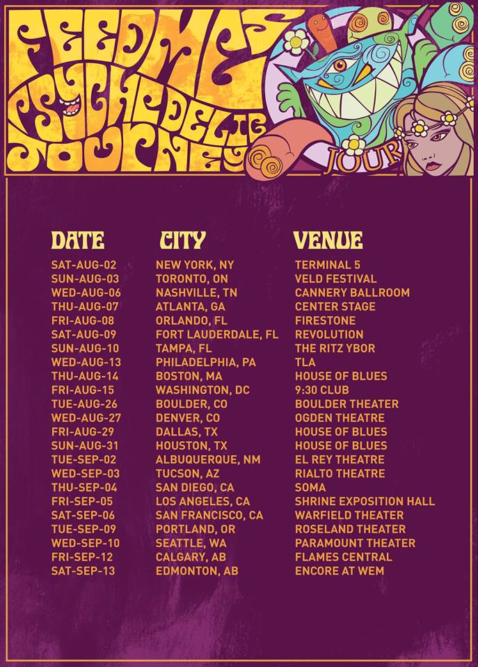 feed me north american tour psychedelic journey