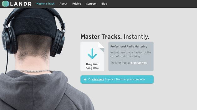 LANDR, Free Drag And Drop Mastering Software For Your Music | Your EDM