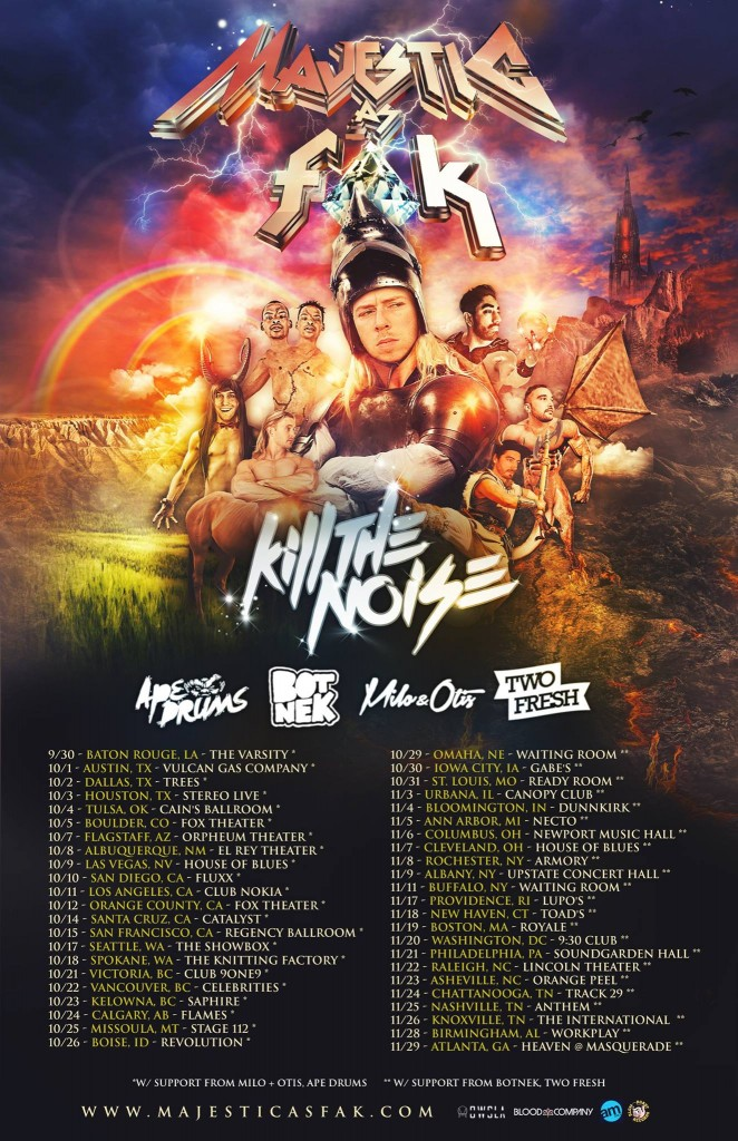 Majestic as Fak Tour Dates