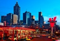 Atlanta Skyline from the Varsity