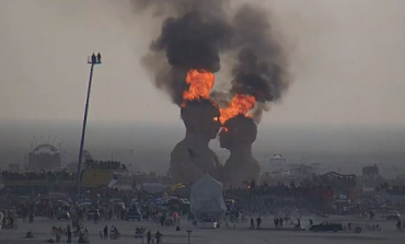 $266,000 Burning Man Art Installation Gets Torched [Video]