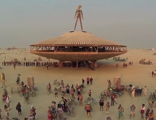 Burning Man From The Sky… Via Drone
