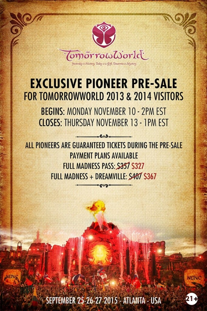 tomorrowworld 2015 ticket info