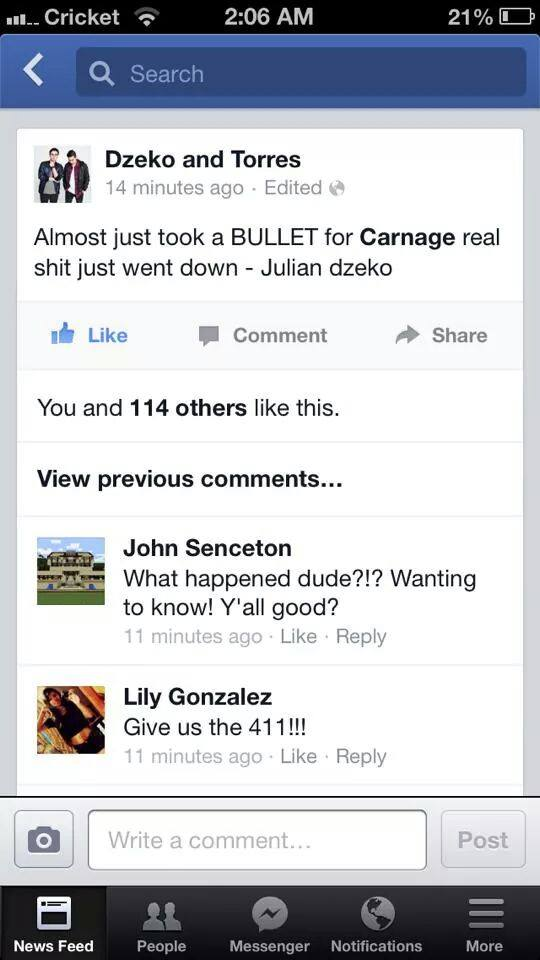 dzeko & torres gun carnage