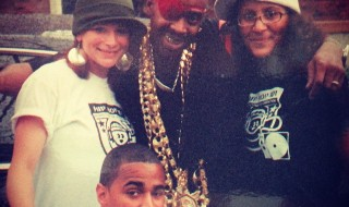 (courtesy of Kate's Facebook page) BLAST FROM THE PAST! Kate aka MC Lab Rat (circa 2005) hanging with none other than SLICK RICK THE RULER at Hip Hop 101 Throwback Jam! LA DI DA DI!