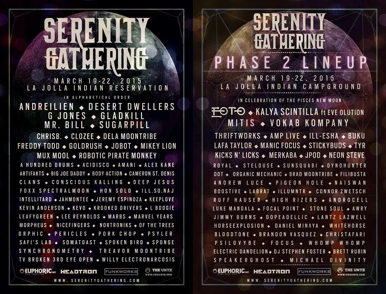 serenity gathering phase 1&2