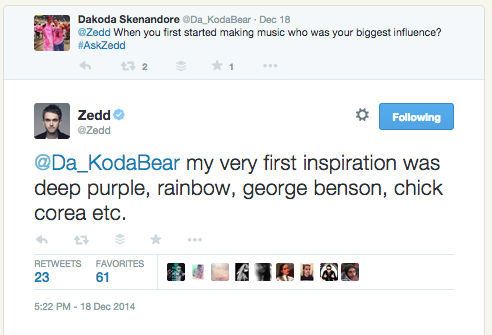zedd-influences