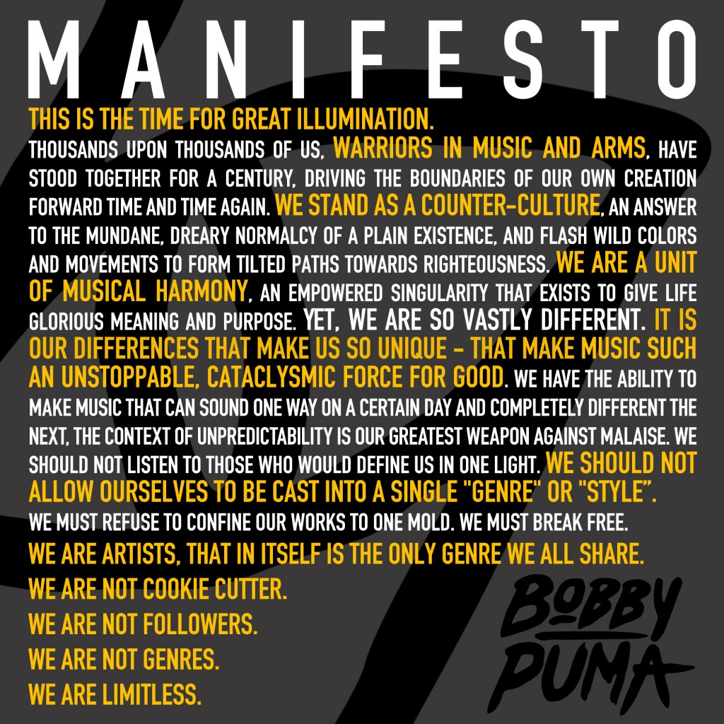Bobby Puma_Manifesto-message-youredm