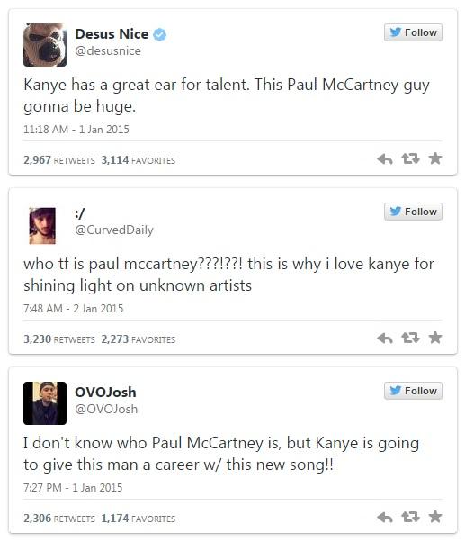 kanye x mccartney tweets