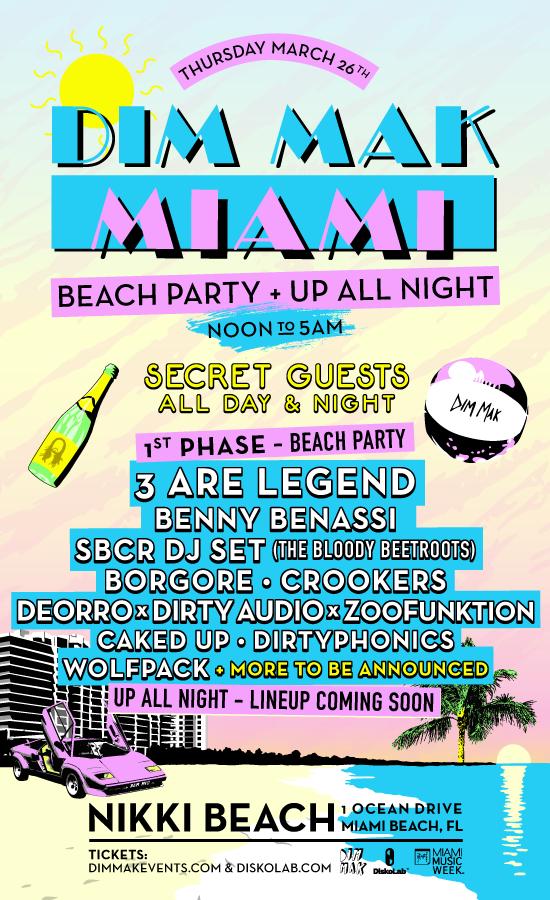 dim mak beach party