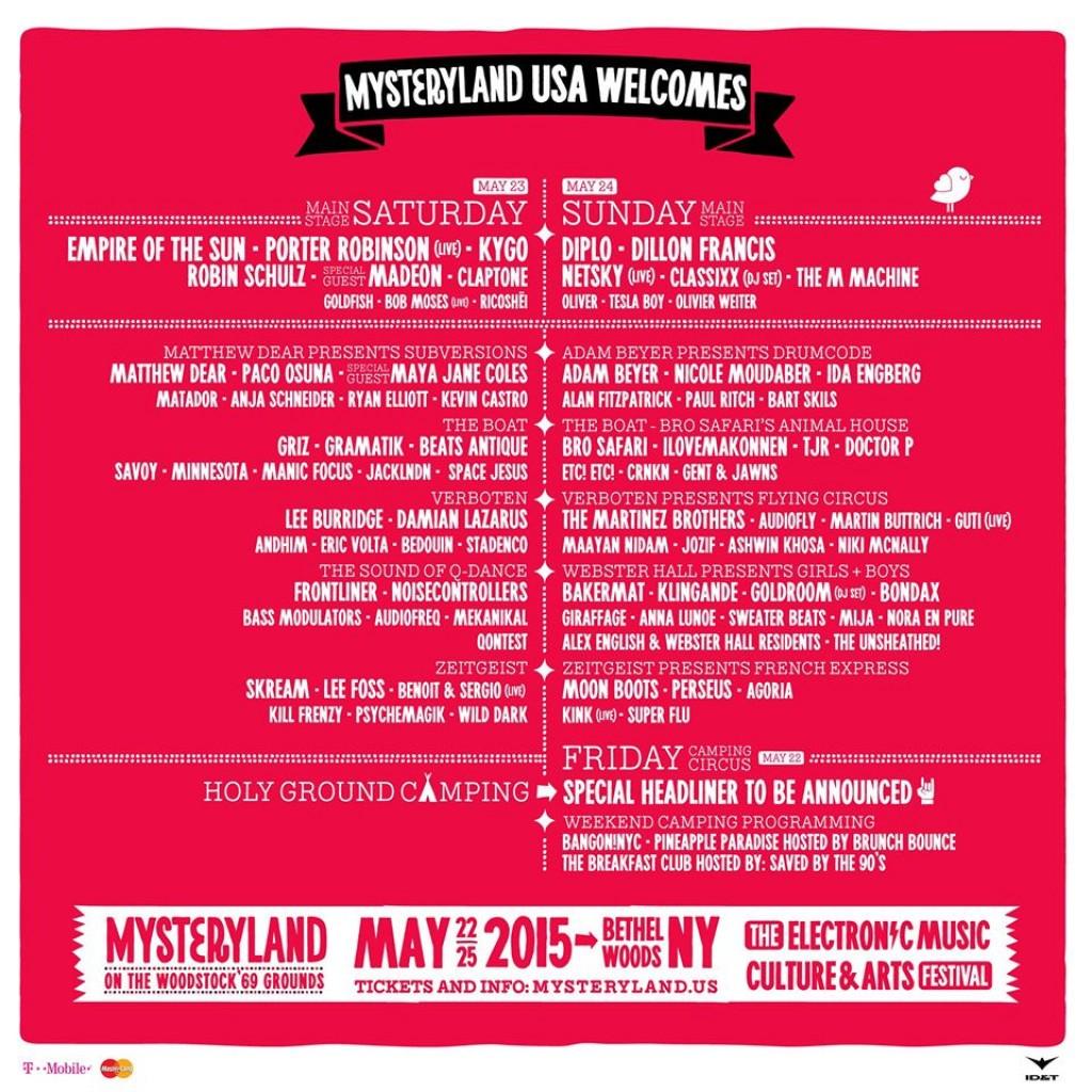 MysterylandUSALineUp2015