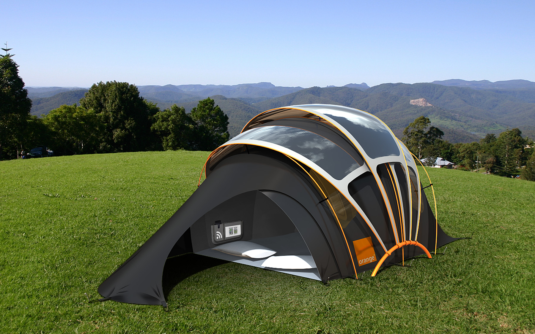 Orange Solar Tent Is The Future Of Festival Camping