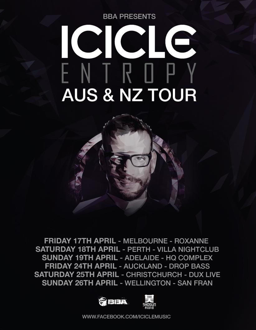 icicle entropy live aus & nz tour
