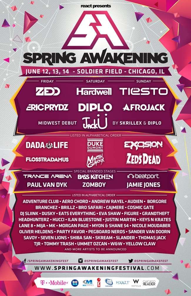 spring awakening full lineup