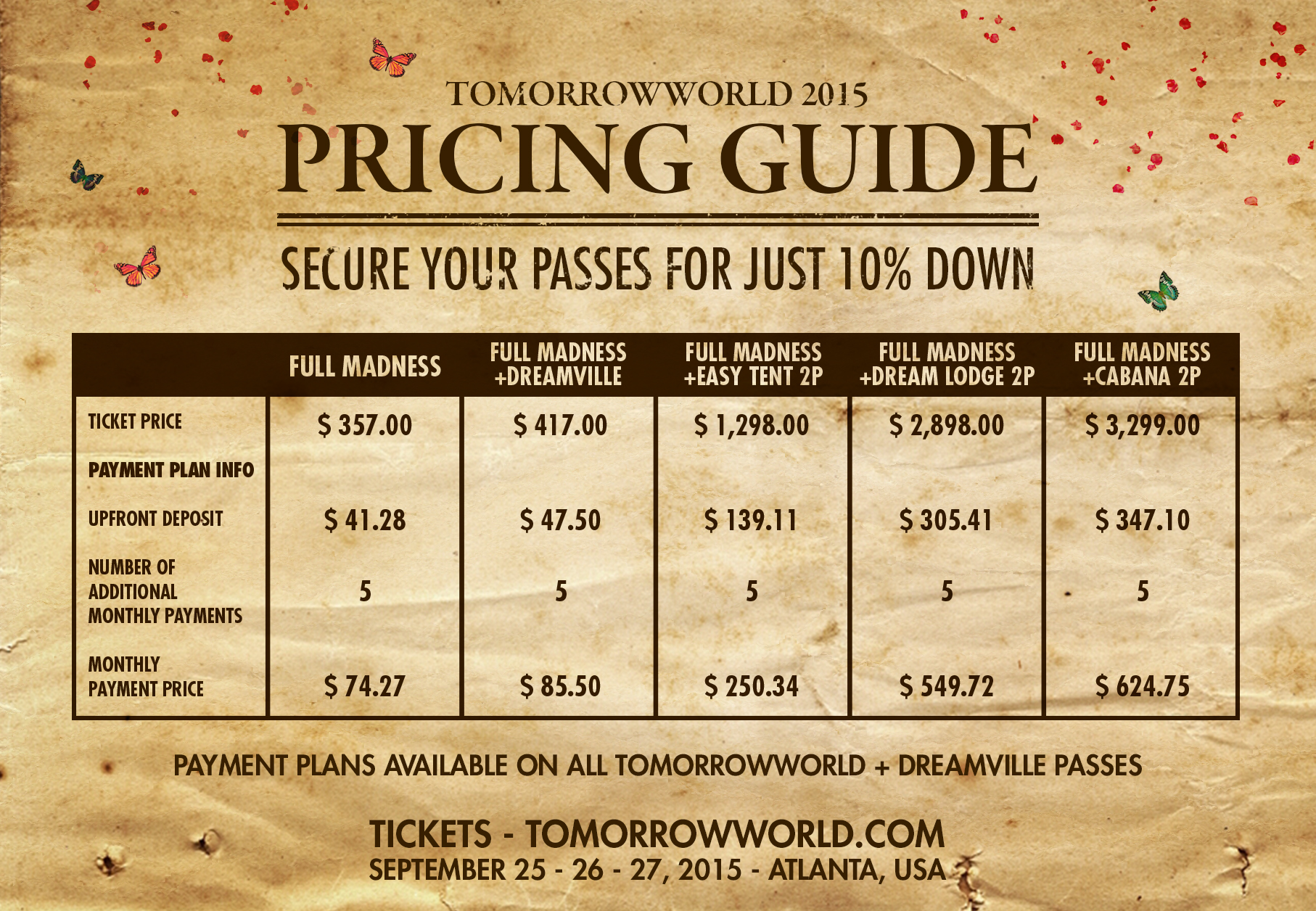 TomorrowworldPricingGuide