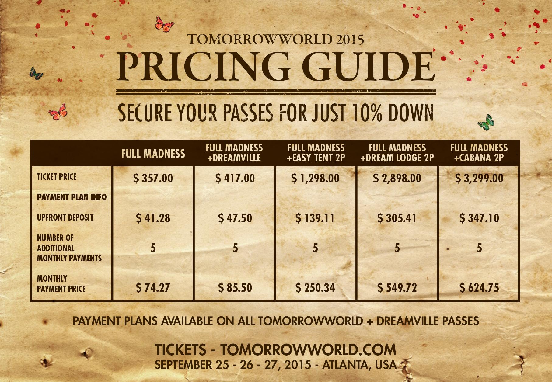 TomorrowworldPricingGuide