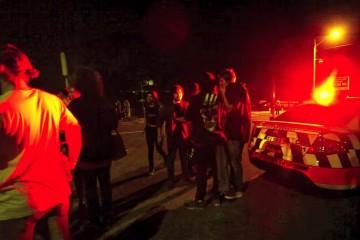 police interrupting a rave