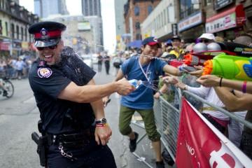 cop having fun