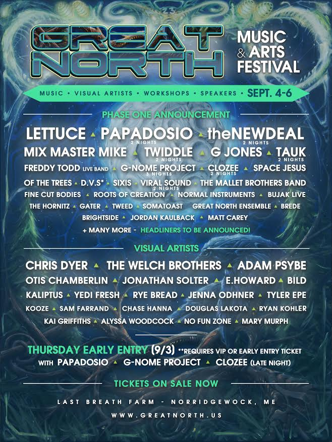 great north phase 1 lineup