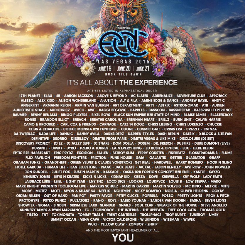 edc 2015 final lineup official