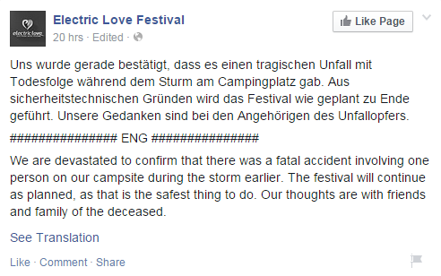 electric love festival official statement