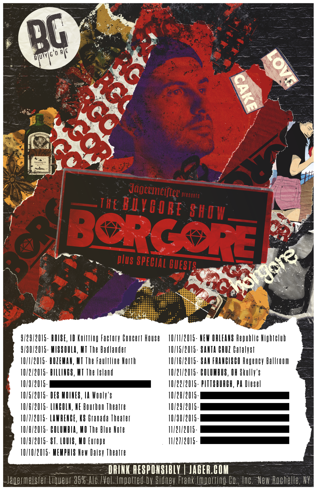 buygore show tour