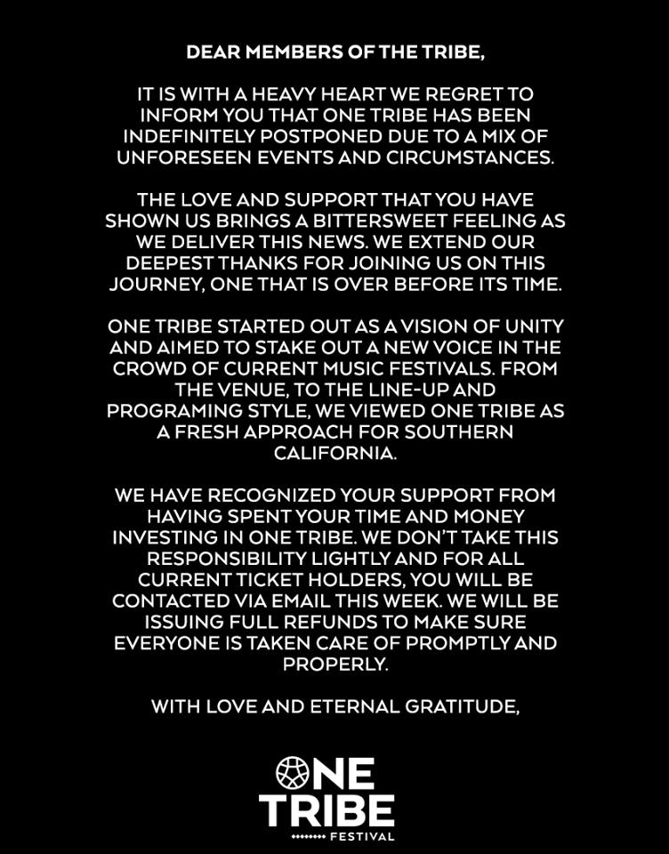 one tribe press announcement