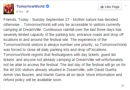 tomorrowworld fb post