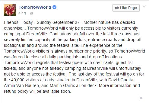 tomorrowworld fb post