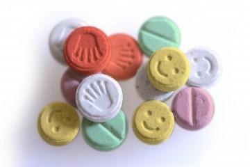 E Ecstasy pills