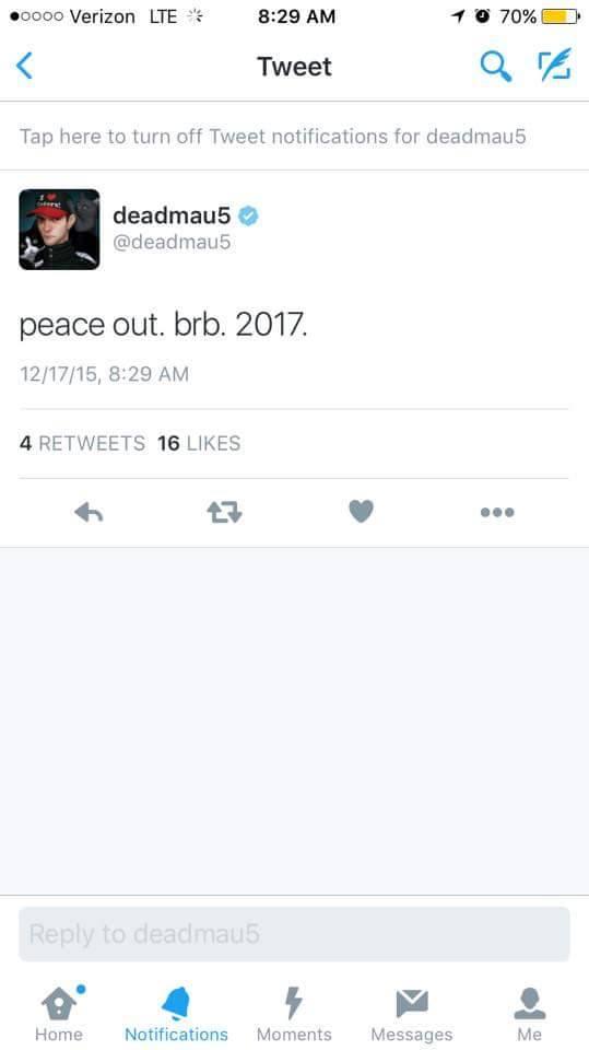 deadmau5 last tweet