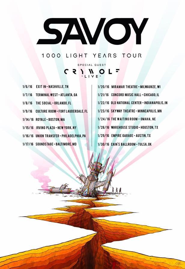 savoy tour dates w crywolf