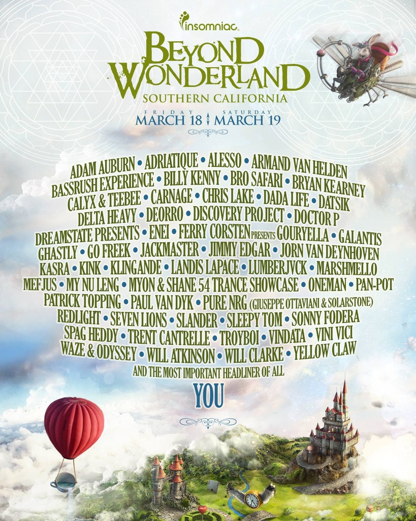 beyond wonderland '16 lineup