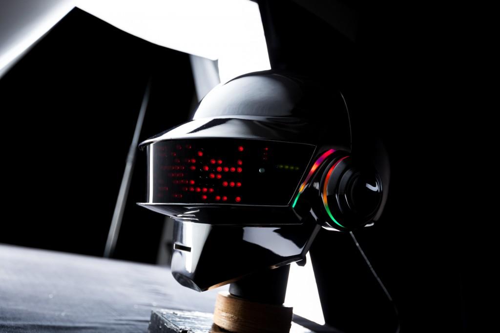 DIY Daft Punk Helmet built by Greg Santacruz in St. Louis, Missouri.